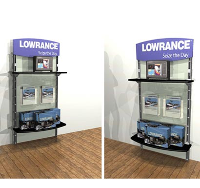 Solutions & Ideas / Retail / Kiosk Merchandiser - Lowrance